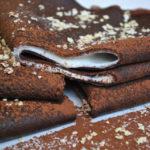 Bardzo kakaowe naleśniki jaglane z kremem cytrynowym