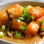 Zupa krem z soczewicy z paprykowymi grzankami