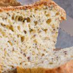 Chleb otrębowy ze słonecznikiem i siemieniem lnianym