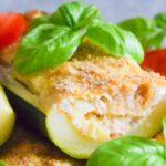 Cukinia faszerowana tuńczykiem i ricottą FIT